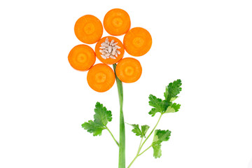 Flower from carrot and parsley.