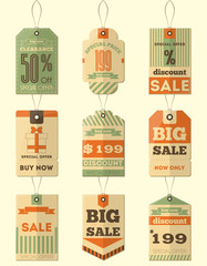 Sale Retro Tags
