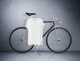 Fototapety Vintage bicycle and blank t-shirt