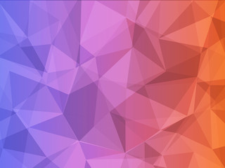 blue and red color geometric polygon abstract background
