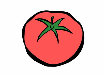 doodle red tomato