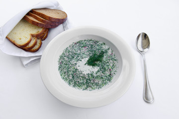 plate diet soup with dill
