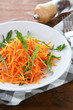 grated carrots with arugula