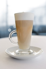 latte coffee with cream