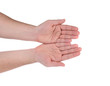 canvas print picture - Open palm hand gesture of male hand.