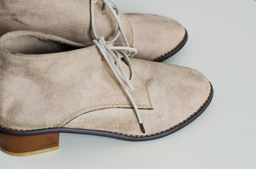 Woman Suede Leather Shoes