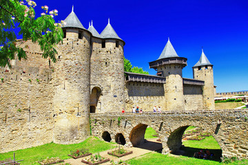 castle Carcassonne (France, Languedoc)