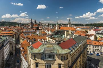 Прага Вид с Пороховой башни