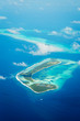 Maldives, view from the airplane