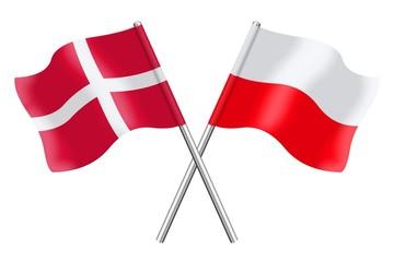 Flags: Denmark and Poland