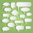 Paper Chat Bubbles Illustration - 69201925