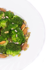 Close up of broccoli salad.
