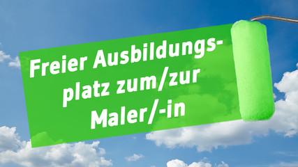 ms48 MalerSchild - Ausbildungsplatz zum-zur Maler-in 16zu9 g1377