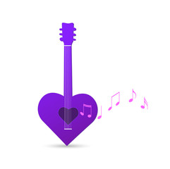 Guitar Heart Design