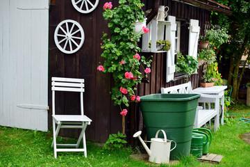 Garten Hütte shabby chic