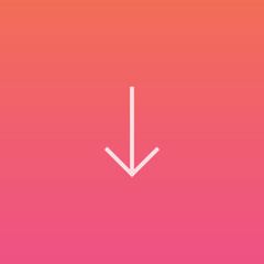 Arrow down - Finely crafted line icons