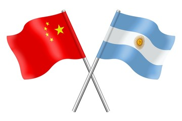Flags : China and Argentina