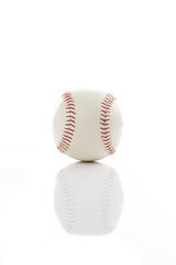 Baseball on white isolated background