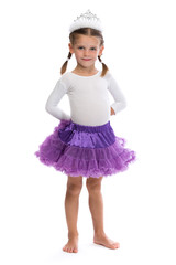 Little girl ballerina in the corona.