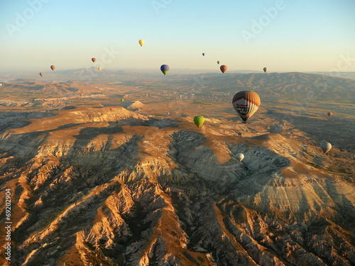 Tuinposter Canyon air balloon