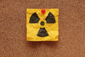 Crumpled Radioactive Sign
