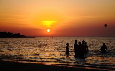 Giochi al tramonto