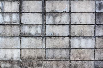 Dirty concrete block wall