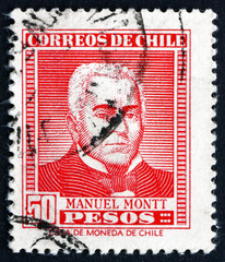Postage stamp Chile 1956 Manuel Montt, Chilean Politician