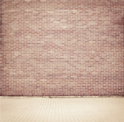 Brick grunge weathered wall background