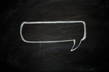 Chalk speech Bubble
