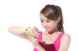 Health sport woman wearing smart watch