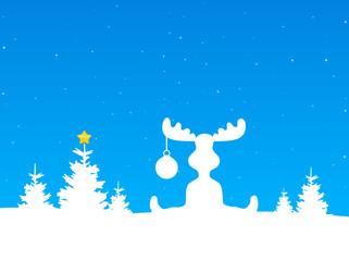 Elch Schnee Weihnachten