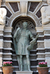 Detail of the Organ Fountain, Villa d`Este, Tivoli, Italy