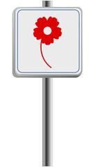 Blumen kaufen -Info-Tafel
