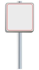 Schild leer für online Shop