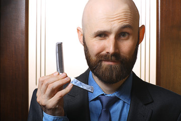 bald beard comb