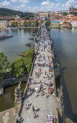 Чехия Прага Карлов мост вид со Староместской башни
