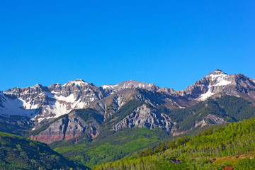 Snow Mountains of Telluride, Colorado.