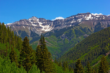 Mountains surrounding Telluride, Colorado.
