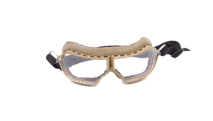White protective glasses.