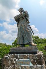 Statue of Ryoma Sakamoto (坂本竜馬像) in Nagasaki, Japan