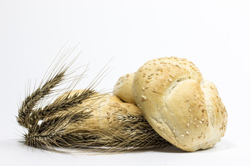 Small bread and wheat ear