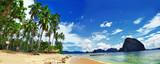 tropical panorama, El nido islands, Philippines - 69207332