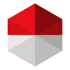 Monaco Flag Hexagon Flat Icon Button