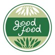 good food in a circle emblem for health longevity