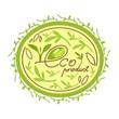 eco bio organic product logo
