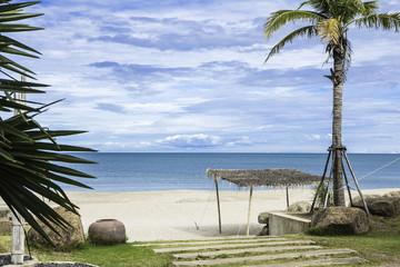 Beautiful tropical gold sand beach in Thailand