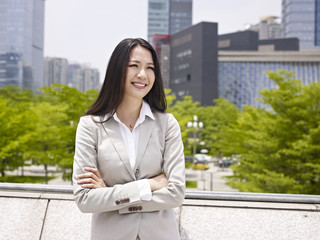 young asian businesswoman outdoor portrait