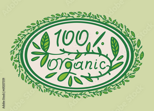 one hundred percent organic product for healthy foods
