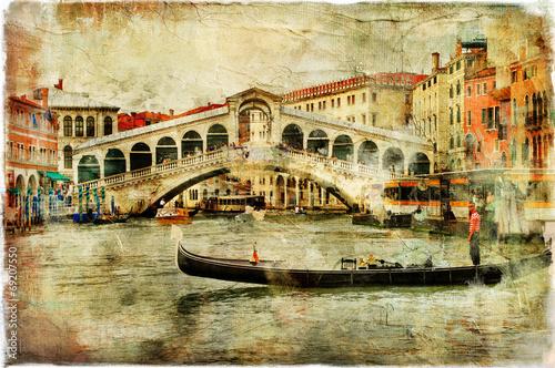 Obraz na Plexi Venice, Rialto bridge - artistic picture